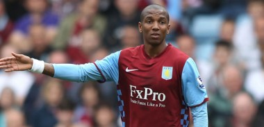 Ashley Young in action for Aston Villa
