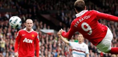 Dimitar Berbatov in action against West Ham United