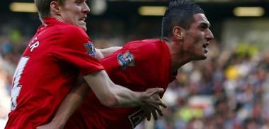 Federico Macheda celebrates scoring THAT goal against Aston Villa