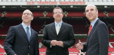The Glazers at Old Trafford, home of Manchester United