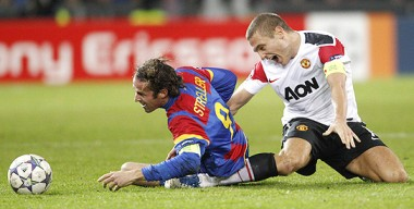 Nemanja Vidic injury vs Basel