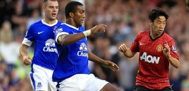 Shinji Kagawa against Everton