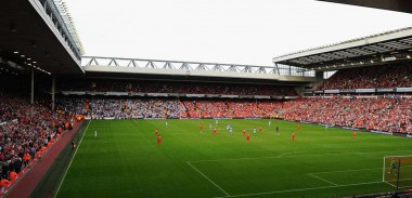 Anfield, home to Liverpool Football Club