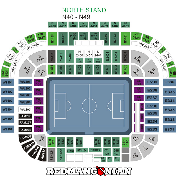 Manchester United Old Trafford Seating Plan