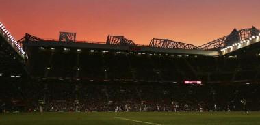 Old Trafford Stadium at dusk, Manchester United