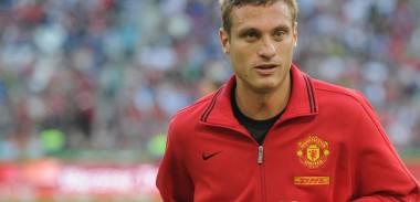 Nemanja Vidic training for Manchester United