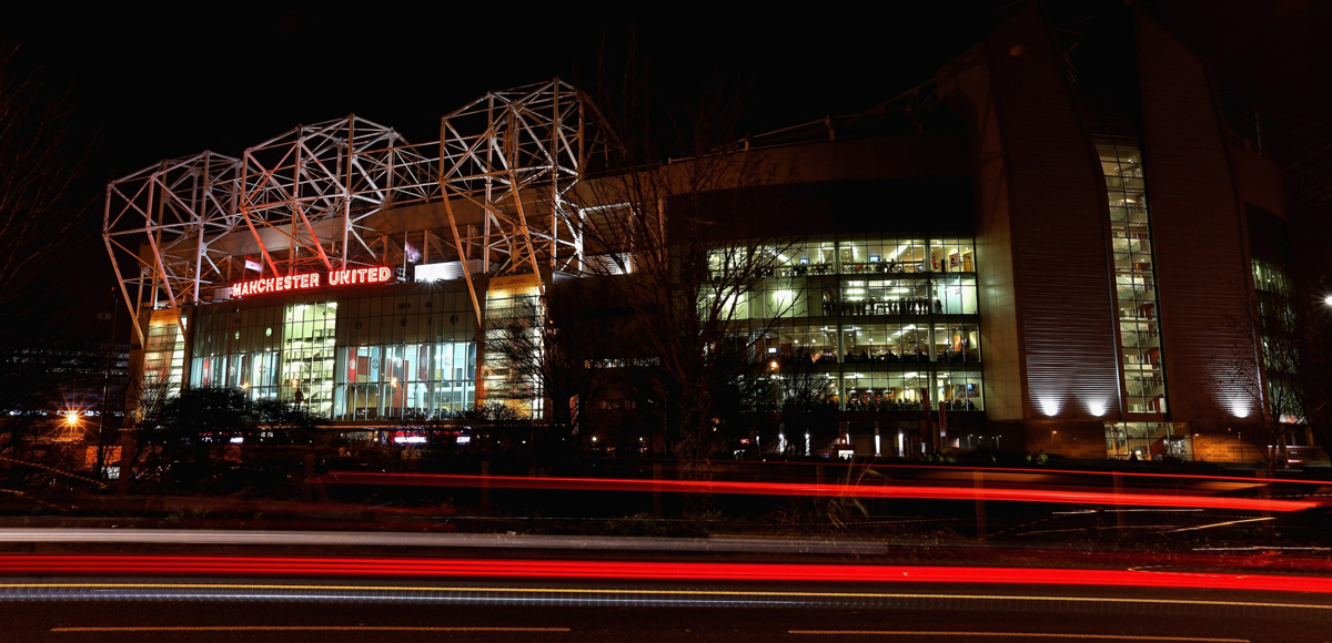 Old Trafford by Night Stock